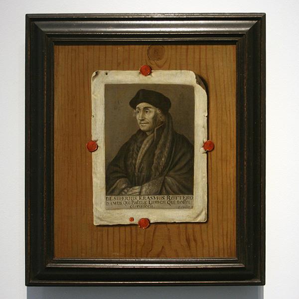 Edwaert Collier - Erasmus van Rotterdam - Olieverf op doek, omstreeks 1700
