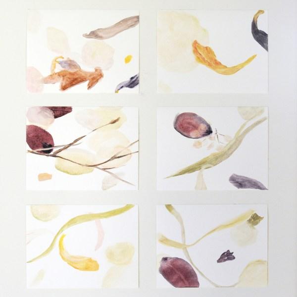 Eefje Goos - Diverse studies op olieverfpapier 18x24cm