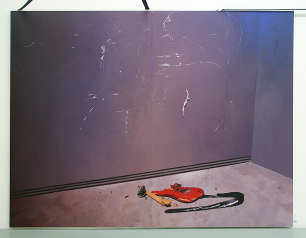 Elodie Lesourd - Tedesco and Pitman (Courtesy P Foutris) - tweeluik, 173x226cm Acrylverf op MDF