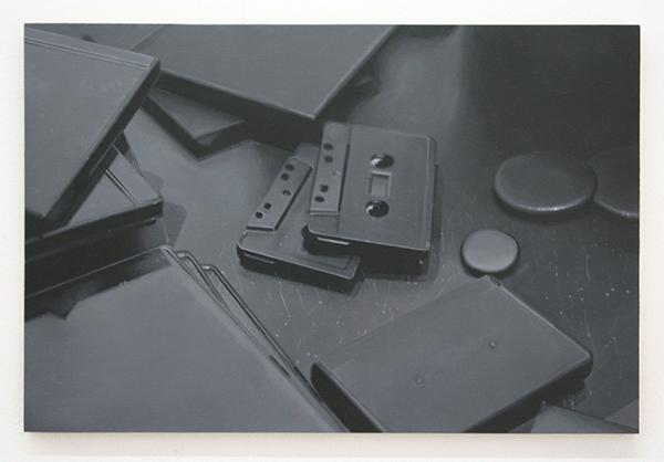 Elodie Lesourd - When I Look in the Mirror, I Feel Dead (Courtesy PN Deloux & P Belouin) - 22x32cm Acrylverf op MDF