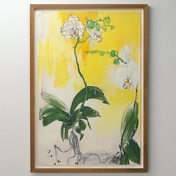 Erik Andriesse - Orchids - 110x73cm Gouache (met stift en pen?) op papier