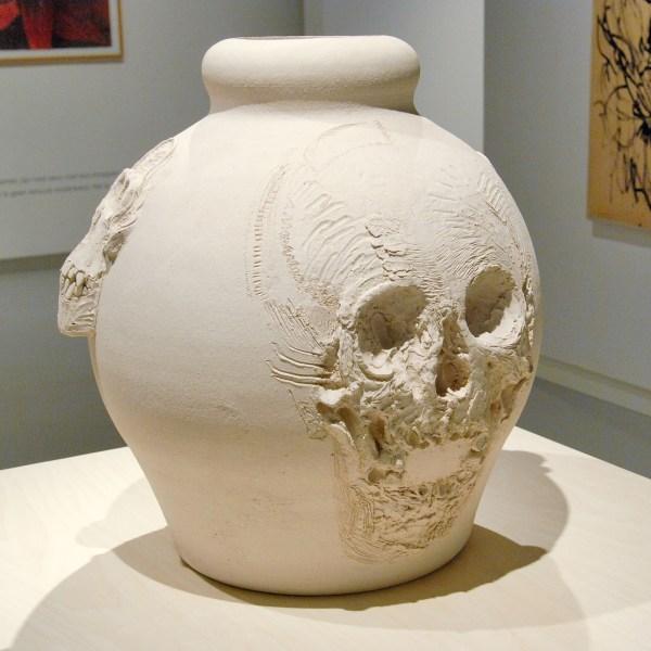 Erik Andriesse - Urn (onvoltooid) - Ongeglazuurd steengoed, 1993