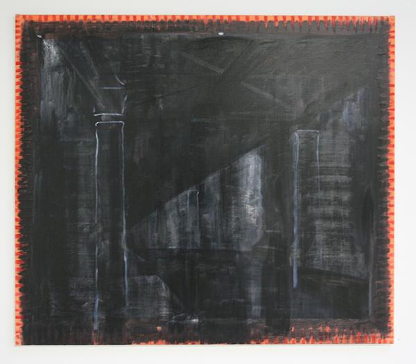 Erik Pape - Metro Stalingrad - 100x115cm Olieverf op linnen