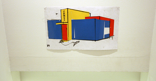 Erik van Lieshout - Ministry of Subculture - Installatie van 49 tekeningen op papier en 1 architectuur model (ingang The Bakery)