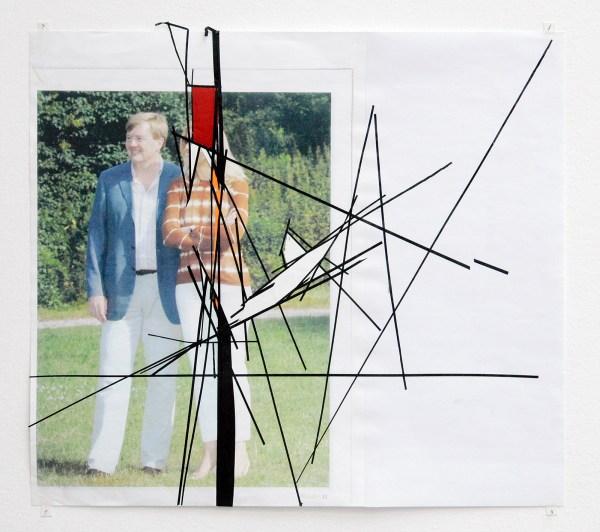 Erik van Lieshout - Untitled - 42x47cm Collage op papier