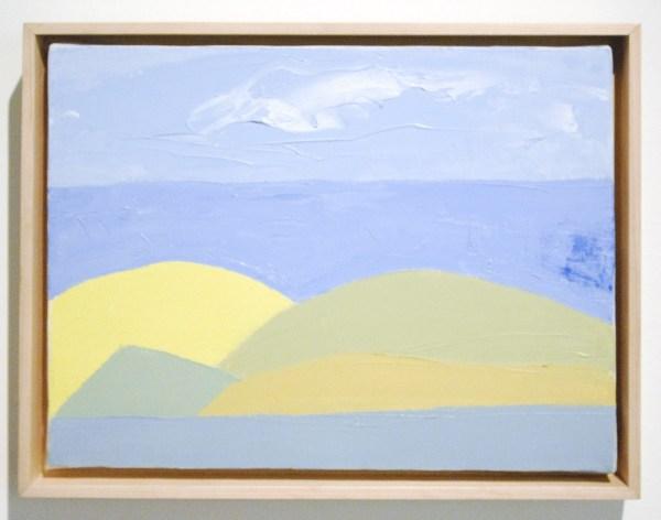 Etel Adnan - Untitled - Olieverf op doek, 2000