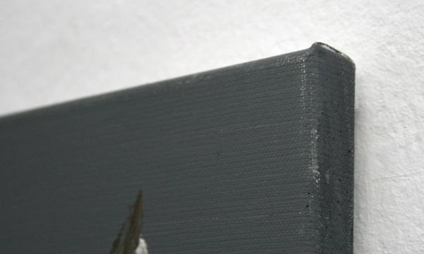 Eva Raeder - 2 Vogel - 50x40cm Gemengde technieken op linnen (detail)