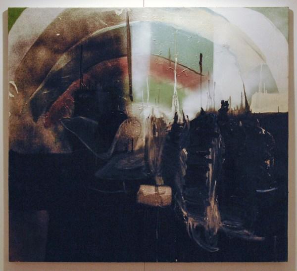 Evelynn van Damme - Boog - 110x100cm Olieverf en aerosol op canvas