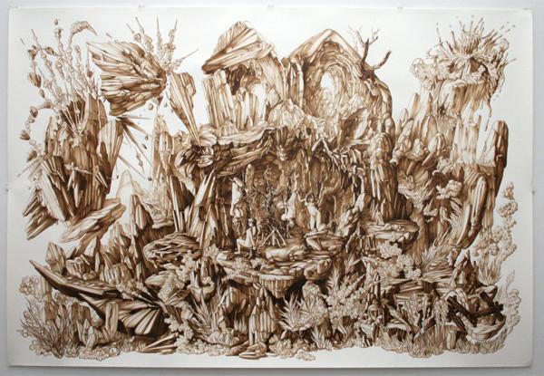 Ewoud van Rijn - Acrylverf en inkt op papier