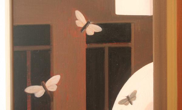 Falk Gernegroß - Butterfly stories - 80x60cm Olieverf op MDF (detail)