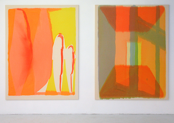 Fiona Mackay - Poplar & Open Sunday Closed Monday - 175x135cm Batik op canvas