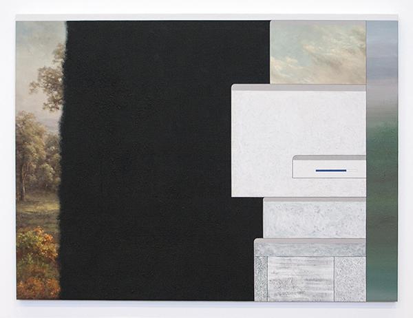 Flavio de Marco - Paesaggio (ready-made) - 90x120cm Acrylverf en olieverf op canvas 2008