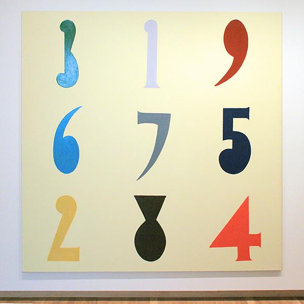 Fons Haagmans - Groot Cijferschilderij 1 - Latex en Permacrylverf op doek 1987