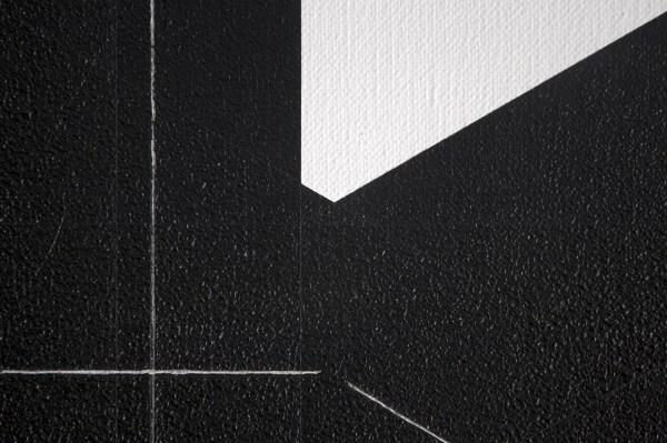 Francois Morellet - Pi Puissant n, 3, 1 = 30, 13 decmiales - Acrylverf op doek op hout, 1998 (detail)