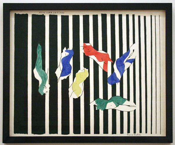 Franics Picabia - Conversation - Waterverf en potlood op papier