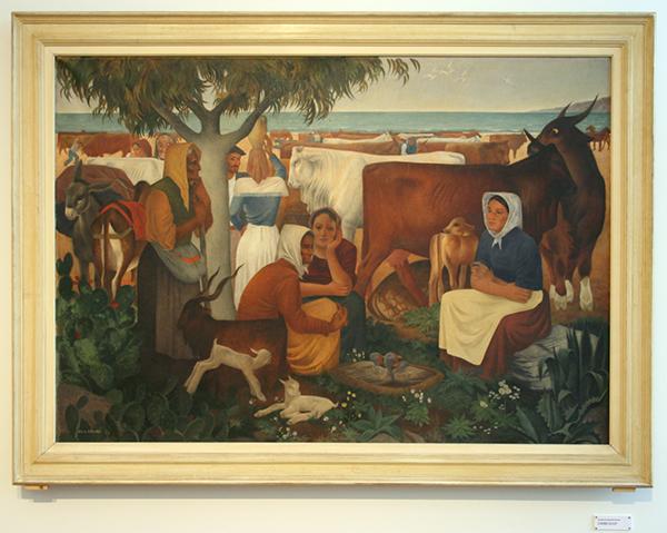 Ge Roling - Siciliaanse Jaarmarkt - Olieverf op canvas 1933