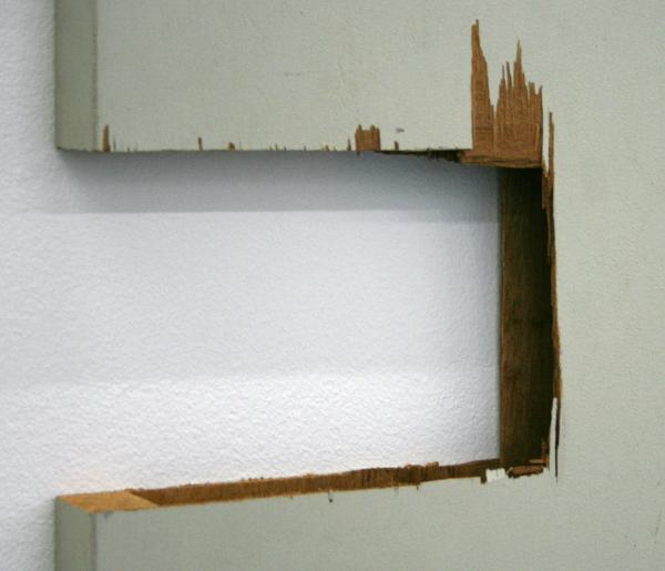 Gedi Sibony - Six Day Switch Back - 135x79cm Deur of wat er van over is (detail)