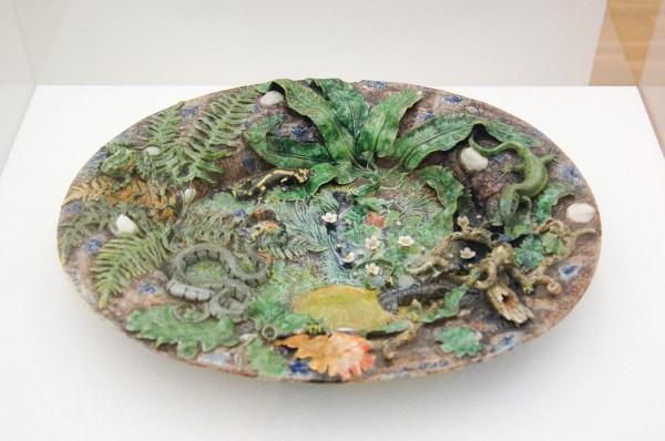Georges Pull - Dish - Gevernist aardewerk, 1859
