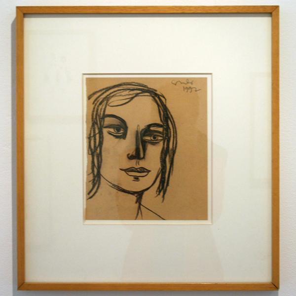 George Condo - Untitled - 27x23cm Krijt op papier