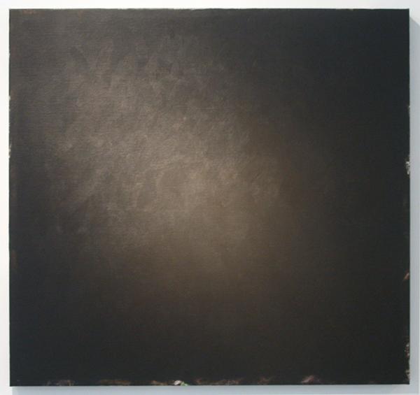 Ger van Elk - Conclusion I - Black Landscape - 96x102x5cm Acrylverf op foto op canvas