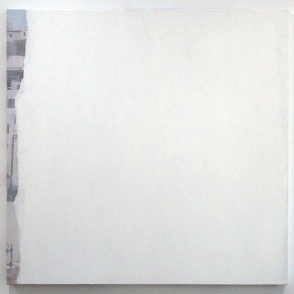 Ger van Elk - Conclusions II - Vejer de la Frontera 'Blue' - 123x126x6cm Acrylverf op foto op canvas