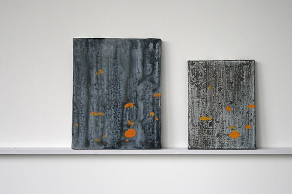 Giel Louws - Bark 1 & Bark 2 - 30x24cm & 24x18cm Acrylverf op canvas, 2012