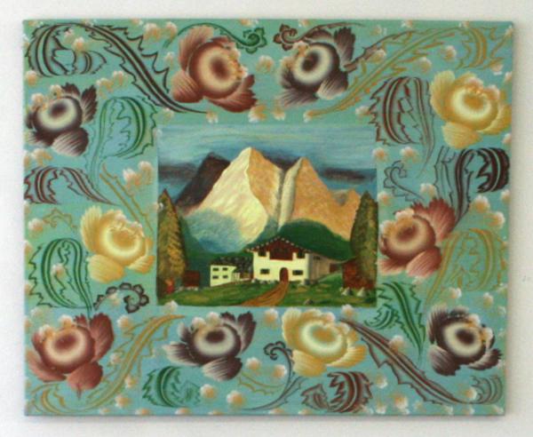 Gijs Frieling - Het Witte Huis (naar anoniem schilderij) - 85x70cm Caseine en pigmenten op linnen