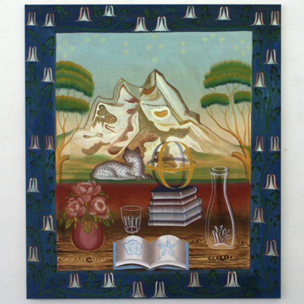 Gijs Frieling - Nelke's Balkontafel - 130x150cm Caseine en pigmenten op linnen