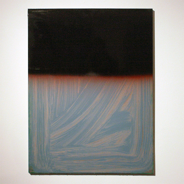 Gijs van Lith - Back to the Future no 6 - 80x60cm Olieverf, alkydlak, spuitlak en aluminium op canvas