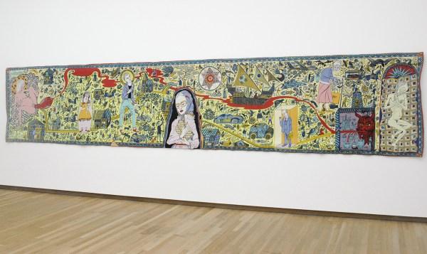 Grayson Perry - Walthamstow Tapestry - Geweven wol, acryl, katoen, trevira cs en polyster, oplage 11 van 12, 2009