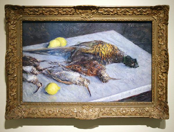 Gustave Caillebotte - Faisans et Becasses sur une Table de Marbre - Olieverf op doek 1883
