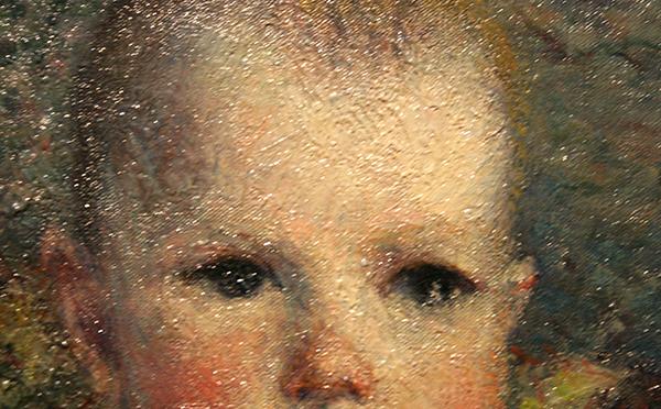 Gustave Caillebotte - Portrait de Maurice Hugot, Enfant - Olieverf op doek 1885 (detail)