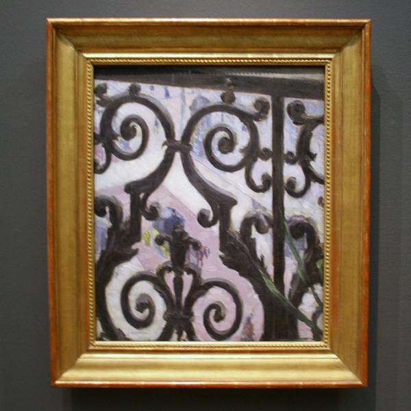 Gustave Caillebotte - Vue Prise A Travers un Balcon - Olieverf op doek 1880