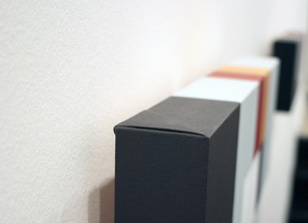 Guus Koenraads - Notices III - 15x45x5cm Acrylverf op doek op paneel (detail)