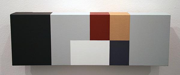 Guus Koenraads - Notices III - 15x45x5cm Acrylverf op doek op paneel