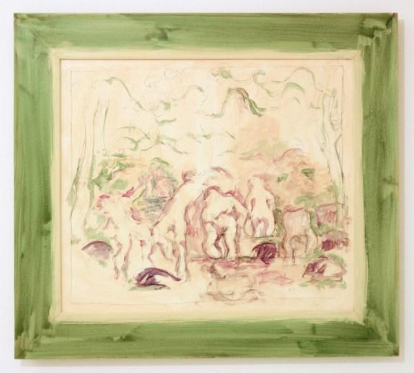 Hans van Hoek - Zonder Titel - Aquarel op papier en houten lijst