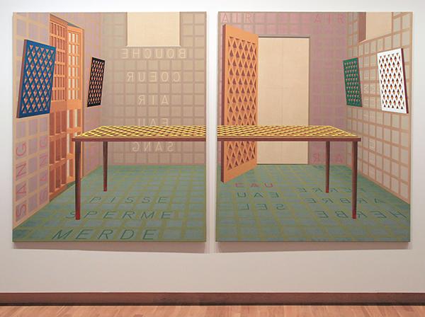 Henri Jacobs - Salle a Manger, Salle a Mourir - Olieverf op linnen 1989