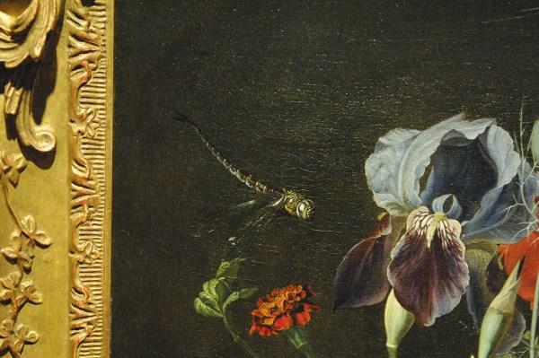 Henri de Fromantiou - Bloemstilleven - Olieverf op doek (detail)
