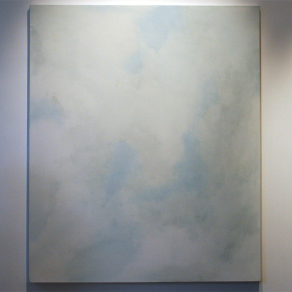 Huub Vlemmings - Witte Lucht 1 - 100x120cm Olieverf op linnen