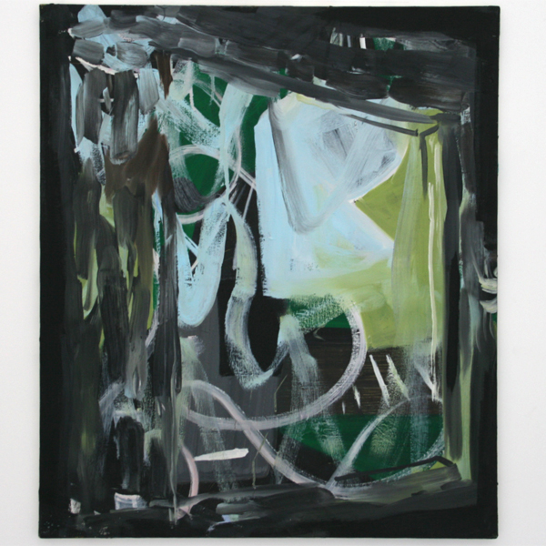 Pim Blokker - I Was Doing Alright While Everybody Else Turned Into Green Colours - 60x70cm Olieverf op canvas