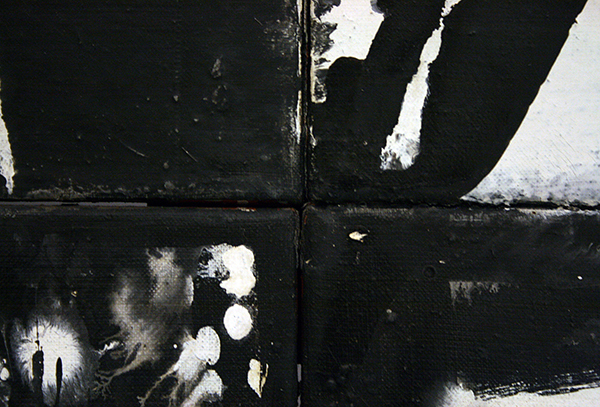 JCJ Vanderheyden - Chapelet (Jacobsladder) - Polyvinylacetaatverf op doek 1962 (detail)