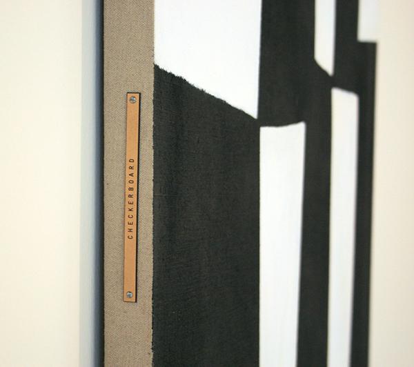 JCJ Vanderheyden - Large Checkerboard - Polyvinylverf en tempera op doek (detail)