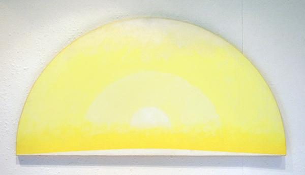 JCJ Vanderheyden - The Quality of Yellow (inv nr 009) - 45x88cm Acrylverf op doek op paneel