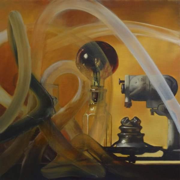Jacco Hinke - Laboretur - 50x50x5cm Olieverf op canvas
