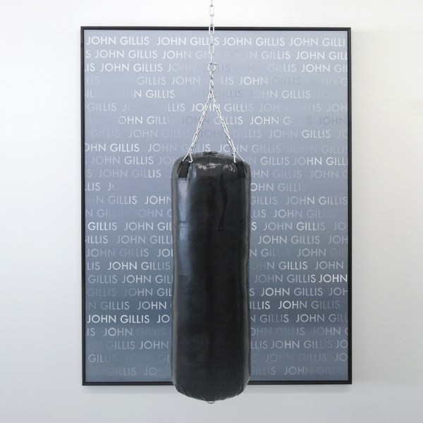 Jakup Auce - Our comedies are nothing to be laughed at - 150x200cm Olieverf op canvas en boksball van 100x35cm