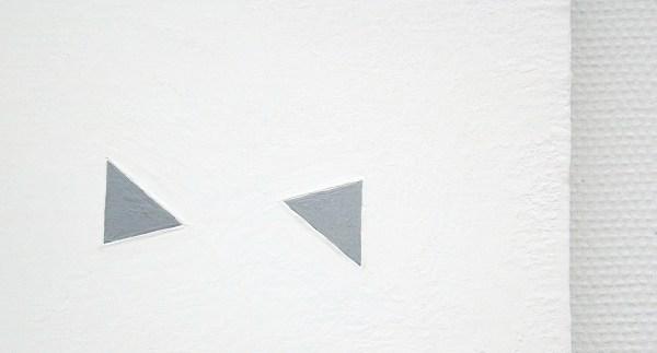 Jan Andriesse - Chinees Perspectief - Acrylverf, marmerpoeder op linnen en ketting (detail)