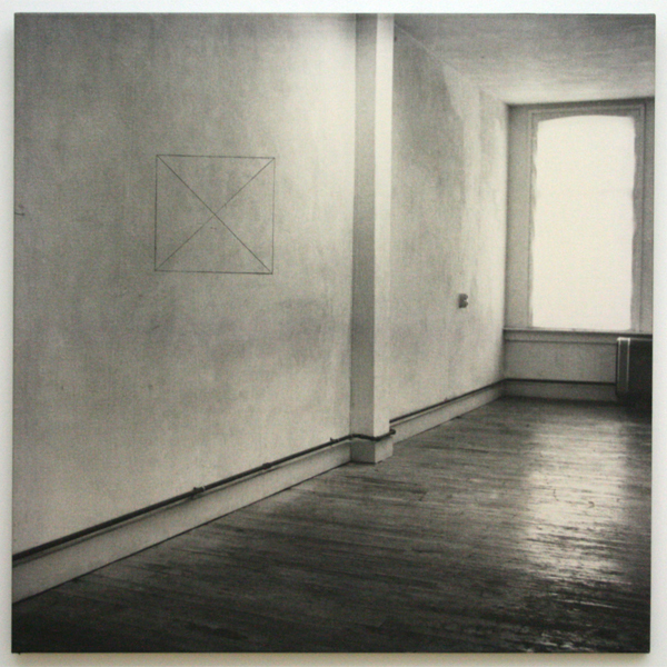 Jan Dibbets - Perspective Correction - My Studio II - Zilvergelatinedruk op doek