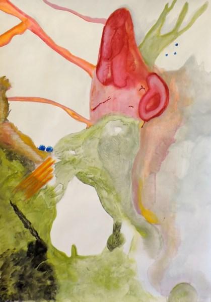 Jan Hendriks - Zonder Titel - 70x100cm Acrylverf op schilderkarton, 2015