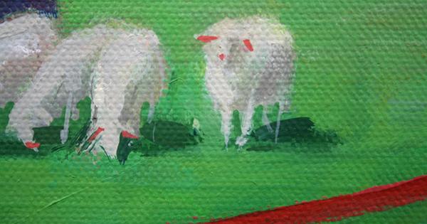 Jan Knap - Untitled - 220x170cm Olieverf op canvas (detail)