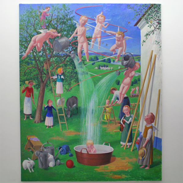 Jan Knap - Untitled - 220x170cm Olieverf op canvas